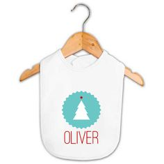Baby Name Christmas Tree Bib   Personalised Baby Gifts   Word On Baby