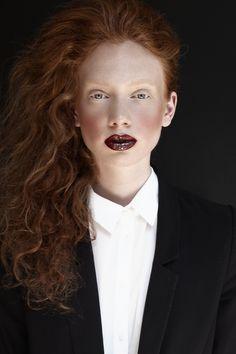 Anne-Lise by Anny CK / Makeup & Hair by Sabine Szekely Redhead Makeup, Goth Makeup, Beauty Makeup, Hair Beauty, Makeup Artist Portfolio, Red Hair Looks, Medium Long Hair, Ginger Girls, Beauty Shoot