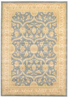 Blue Allover Sultanabad Area Rug