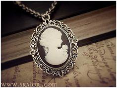 Gothic Victorian Cameo Necklace by SKAIOR Designs  http://www.skaior.com