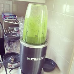 Using my #nutribullet for the first time @tajexperience spinach and grapes! #nutriblast