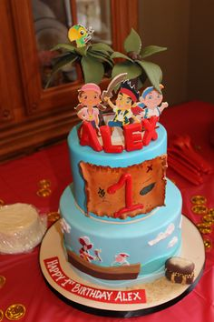 Alex's Jake and the Neverland Pirates cake courtesy of City Girl Cakes!