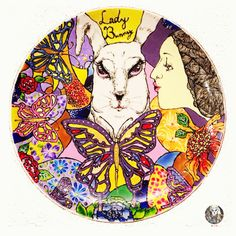 Art: Lady Bunny Type: 20*20cm Plate