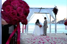 The Ceremony on the beach