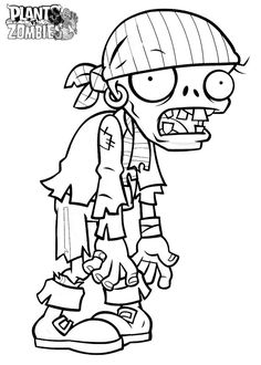 free plants vs zombies coloring pages | Coloring Pages