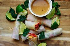 Delicious blog: Jarní závitky s marinovanou zeleninou Fresh Rolls, Ethnic Recipes, Blog, Paper, Blogging