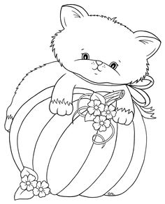 Best Coloring: Cute halloween kitten coloring pages - Amazing Coloring sheets - Cross Stitch Embroidery, Embroidery Patterns, Hand Embroidery, Fall Clip Art, Halloween Coloring Pages, Quilling Patterns, Digi Stamps, Whimsy Stamps, Coloring Book Pages