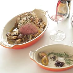 Rosemary & Garlic Crusted Beef - Wow your dinner guests with this aromatic Rioja wine rosemary and garlic roast that is so simple to make.