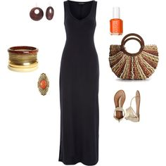 """""""Simple Summer Maxi Dress Outfit"""" by shimmerypear on Polyvore"""