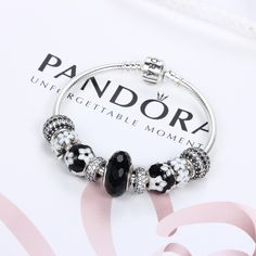 [Special Offer & Time Limited]PANDORA Bracelets With Black Bead | Special price: £189.98 | Buy now: http://www.pandorasale2012.com/pandora-bead-bracelet.html