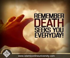 """Muslims are encouraged to reflect on death and prepare themselves for it. The Prophet (pbuh) said, """"Remember the destroyer of pleasures."""" (Tirmithee) Dr Bilal  #Death"""