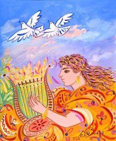 Painting by Greek artist Giorgos Stathopoulos Classical Art, Fine Art, Painting, Greek Art, Conceptual Art, Art, Popular Art, Street Art, Peace Art