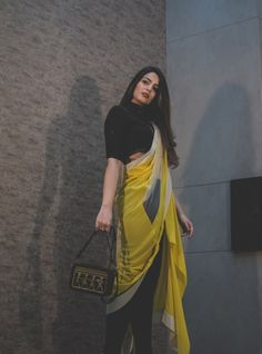 HeadTilt x Shantanu Nikhil - HeadTilt Trendy Sarees, Stylish Sarees, Stylish Dresses, Saree Wearing Styles, Saree Styles, Stylish Dress Designs, Fancy Blouse Designs, Indian Designer Outfits, Indian Outfits