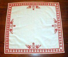 Vintage Swedish Linen Table Top Square  by SwedishGalsAttic, $28.00