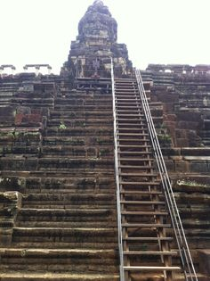 Chau Say Tevoda, starting the climb.