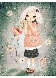 Poster - Illustration for Girls rooms - Matilou - L'Affiche Moderne