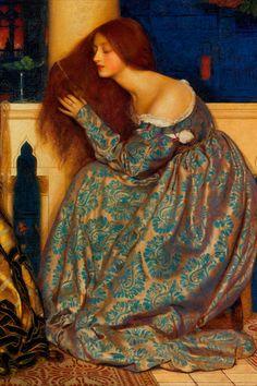 Dante Gabriel Rossetti, John Everett Millais, Classic Paintings, Old Paintings, Beautiful Paintings, Renaissance Paintings, Renaissance Art, Pre Raphaelite Paintings, John Keats
