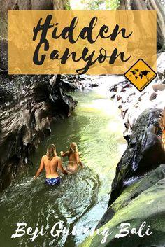 Der Hidden Canyon bietet dir eines der größten Abenteuer, das du auf Bali erleben kannst! Erfahre mehr, in dem du aufs Bild klickst. #Bali #HiddenCanyon #Canyon #CanyonTrekking