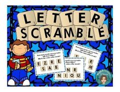 Letter Scramble can be used as a reading center or as a whole group game. Just choose one card. Students will write down all of the letters on the card and then see how many words they can make using just those letters. For an addition math lesson, ask st