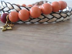 Lovely combination by CreatedByLotte: peach twisted & peach pearl