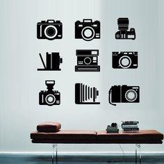Wall Decal Vinyl Sticker Art Decor Design photo snapshot camera vintage Polaroid lens shooting Photo Bedroom Modern Fashion Mural