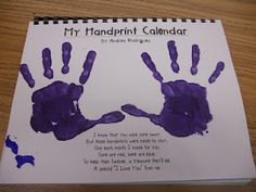 2013 Christmas Calendars! With all the downloads you need! This would be SUCH A CUTE grandparent gift! A different handprint-type design for every month.