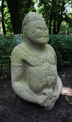 Cuman sculpture in Kharkiv, Ukraine.