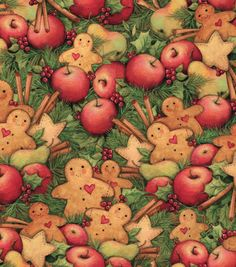 Holiday Inspirations Fabric-Susan Winget Christmas Cookies & Fruit & Holiday Fabric at Joann.com
