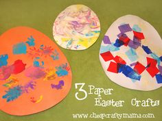 3 Paper Easter Crafts for Toddlers