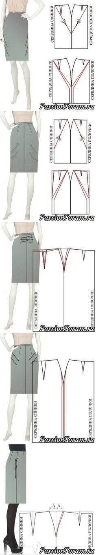 Исправление дефектов юбок