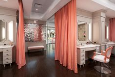 Instead of back wall?? Or seperating shampoo/wax area Blushington: beautiful makeup salon in Los Angeles
