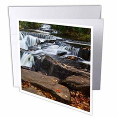 3dRose Michigan, Upper Peninsula Bond Waterfall - US23 BJA0063 - Jaynes Gallery, Greeting Cards, 6 x 6 inches, set of 6