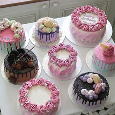 Buttercream Cake Designs, Cake Decorating Frosting, Cake Decorating Designs, Birthday Cake Decorating, Pretty Birthday Cakes, Pretty Cakes, Mini Cakes, Cupcake Cakes, Formation Patisserie