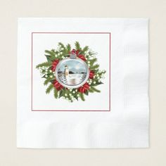 Off-White Damask Essential Home Christmas Holiday Set of 4 Napkins Cream