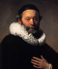 REMBRANDT Harmenszoon VAN RIJN (Leiden 1606-1669 Amsterdam) ~ Portrait of Johannes Wtenbogaert