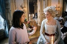 Sofía Coppola & Kirsten Dunst during filming of marie antionette