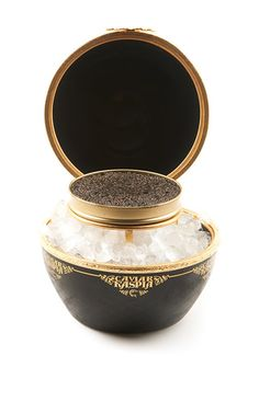 Maison Carpenet Caviar Kaspia Anastasia Matriochka With A 50g Ossetra Selection Caviar Box by CAVIAR KASPIA Now Available on Moda Operandi