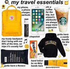 Source by johannatress bag essentials airplane Travel Packing Checklist, Travel Bag Essentials, Travel Necessities, Road Trip Essentials, Road Trip Hacks, Travelling Tips, Packing Tips, Road Trip Checklist, Airplane Essentials