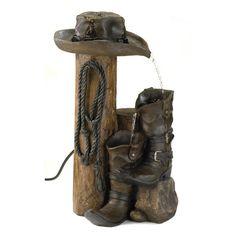 Cowboy Boots Garden Fountain