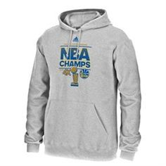 adidas Golden State Warriors Gray 2015 NBA Finals Champions Locker Room Pullover Hoodie