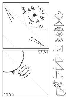 Three cats' stories in paper Kindergarten Crafts, Preschool Crafts, Animal Crafts For Kids, Diy For Kids, Three Cats, Alphabet Crafts, Paper Crafts Origami, Paper Toys, Flower Crafts