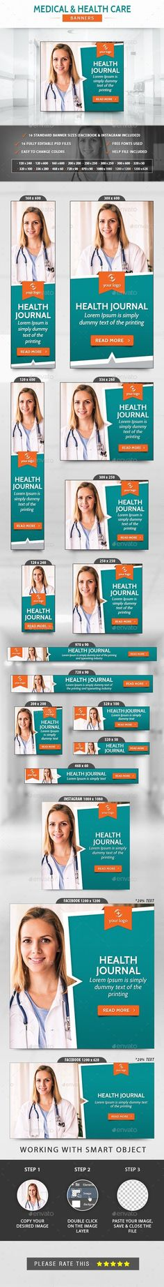 Medical & Health Care Banners for $5 #graphicdesigner #designcollections #templates #Envato #banner #graphic #BannerDesign #design #BannerTemplate #graphicresources #graphicdesign #WebBanners #psd #PhotoShop Logo Maker, Cross Training, Icon Design, Timeline Cover, Medical Health Care, Online Campaign, Medical Journals, Image Categories, Promote Your Business