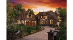 English Country Cottage house plans and interior exterior photos. Beautiful!