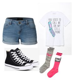 """yass"" by destinyhuerta ❤ liked on Polyvore featuring LE3NO, PacSun, Converse and Victoria's Secret"