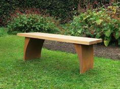 Urban garden bench by Chris Bose. The urban garden bench with its simplicity is a perfect bench for a modern garden. Corten base finish. British Made
