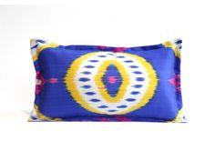 Designed By: ROBIYA QAYUMOVA  Country of Origin: Tajikistan Hand Woven Ikat Fabric, From Bootstrap Project
