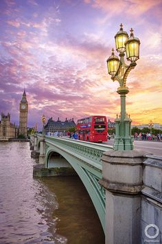 Sunset at Westminster, London, England