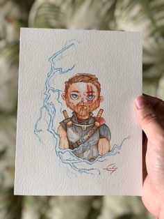 Caricature - Thor Ragnarok  Paint, watercolor, anime Caricature, Gabriel, Thor, Watercolor, Photo And Video, Cover, Books, Anime, Painting