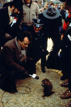 Bill Murray scores an exclusive interview in Groundhog Day (1993) CUTE haha