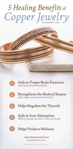 Do you know about the healing benefits of wearing copper against your skin?